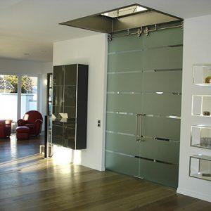 puerta cristal baño